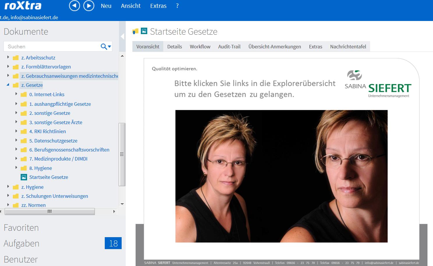 Screenshot Startseite allg